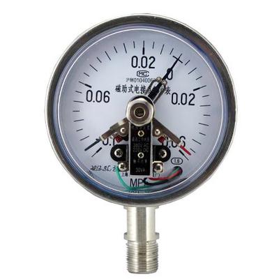 YXC-100B-F磁助電接點壓力表