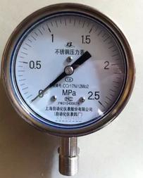 Y-100BF-Z不鏽鋼壓力表