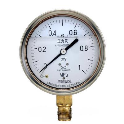 不锈钢压力表Y-150BF 上海自动化仪表四厂