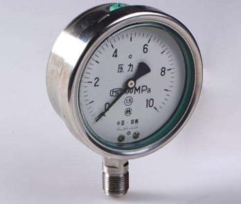 Y-63B-F不锈钢压力表