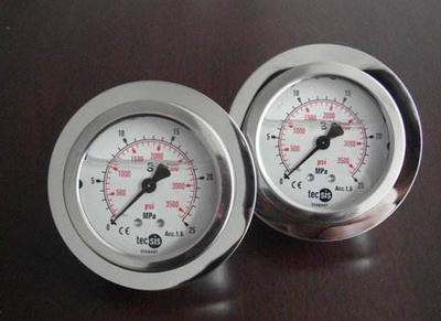 Y-100B-FZQ安全型不锈钢压力表